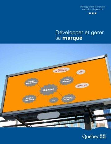 Développer et gérer sa marque - mdeie - Gouvernement du Québec