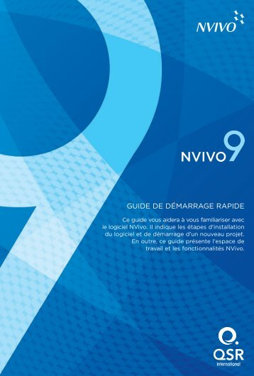 Nvivo 9 Getting Started Guide - French - QSR International