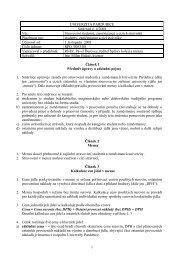 UNIVERZITA PARDUBICE - Dokumenty