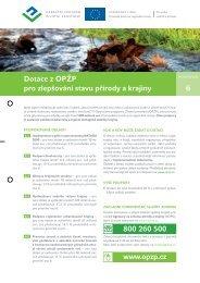 Dotace pro zlepšování stavu přírody a krajiny (pdf) - Operační ...