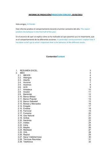 INFORME DE PREDICCIÓN/PREDICTION FORECAST. 03 ... - Jrbolsa