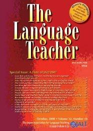 Special Issue: A Taste of JALT2007 - JALT Publications