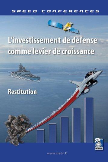L'investissement de défense comme levier de croissance - IHEDN
