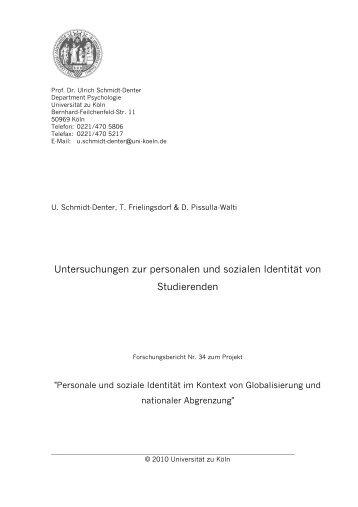 Untersuchungen zur personalen und sozialen Identität von ...