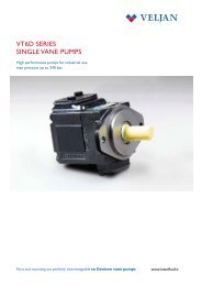 VT6D SERIES SINGLE VANE PUMPS