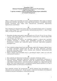 Komunikat 1/2012 Dziekana Wydziału Filologicznego Uniwersytetu ...