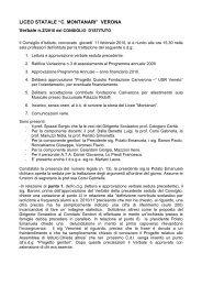 Verbale n. 2 del 11 febbraio 2010 - Liceo Statale C. Montanari