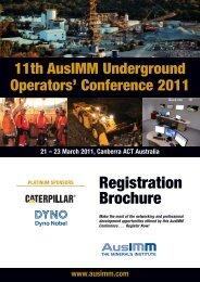 Underground 2011 Registration D+:X - The AusIMM