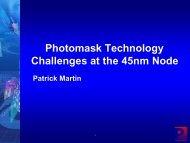 (ILP) Electrical Design Design Layout Mask Build Do over - Photronics
