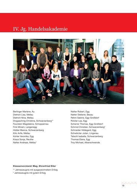 2010/2011 - Bezauer Wirtschaftsschulen