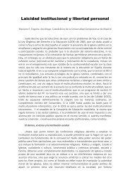 Laicidad institucional y libertad personal. Mariano F. Enguita