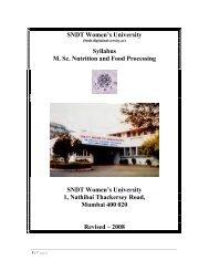 S DT Women's University Syllabus M. Sc. utrition and Food ...