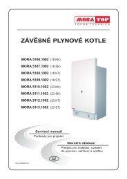 Návod plynový kotel MoraTop 18 23 KK SK TK SK