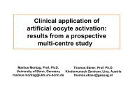 Clinical application of artificial oocyte activation ... - Gynemed.de