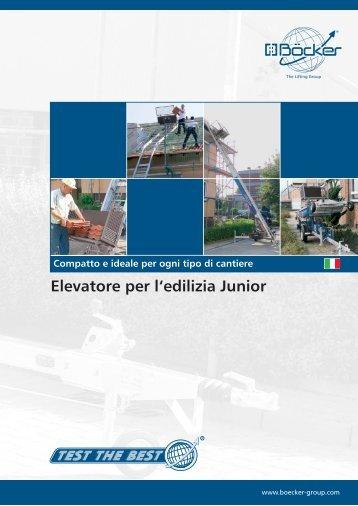 Elevatore per l'edilizia Junior