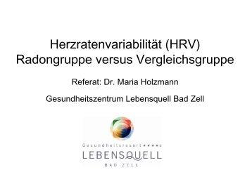 Referat Dr. Maria Holzmann - Euradon