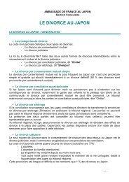 general divorce - juillet 2011 - Ambassade de France au Japon