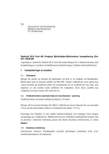 Komletteringar april 2009 - Vindkraft Norr