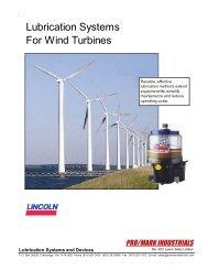 Wind Turbine Lubrication - Promarkindustrials.com