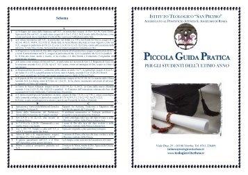 PICCOLA GUIDA PRATICA - Istituto Teologico San Pietro