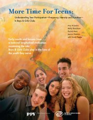 More Time For Teens: - California After School Resource Center
