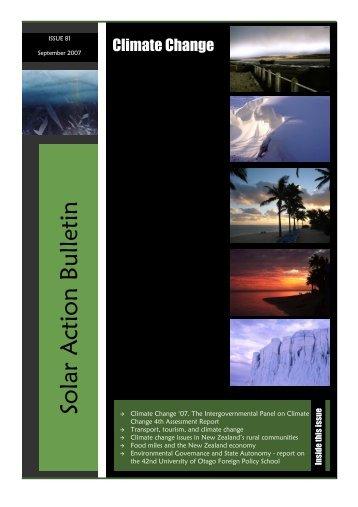 Solar A ction Bulletin - Department of Physics - University of Otago