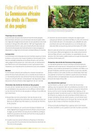 La Commission africaine des droits - Forest Peoples Programme