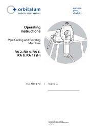 pipe cutting and beveling machines - Orbitalumusa.com