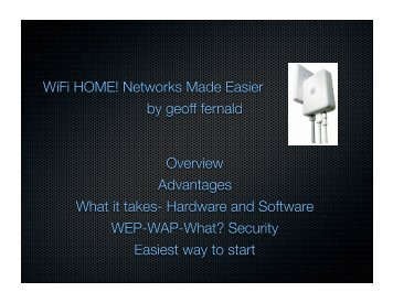 Geoff's Presentation On Wireless Networks - SCUM