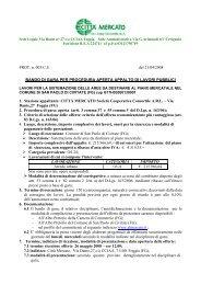 PROT. n. 005/C.S. del 21/04/2008 BANDO DI GARA PER ...