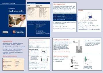 Electrochemistry [PDF] - University of Leicester