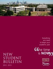 New Student Bulletin 2012-2013 040912.indd - Texas Southern ...