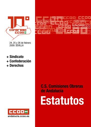 Estatutos - Comisiones Obreras de Andalucía - CCOO