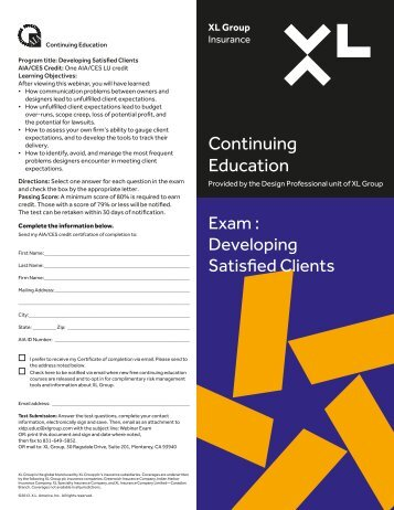 Continuing Education - XL Group