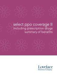 Select Coverage II PPO 2500 wRX - Lovelace Health Plan