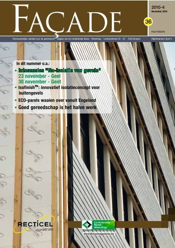 "36 • Infosessies ""Na-isolatie van gevels"" - Magazines Construction"
