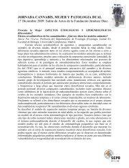 JORNADA CANNABIS, MUJER Y PATOLOGIA DUAL - Asociación ...