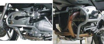 SERVICE Fünf Schutzbügel für BMW R 1200 GS - Bikegear