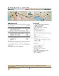 Trans-Canada Rail Adventure - Rocky Mountain Holidays