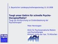 Prof. Dr. P. Henningsen: Taugt unser Gehirn für ... - PTK Bayern