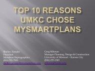 UMKC's Top Ten Reasons to Utilize MySmartPlans