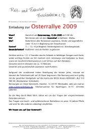 Ausschreibung Osterrallye 09