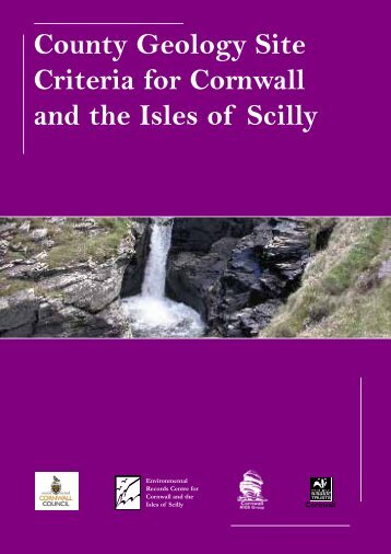 County Geology Site Criteria for Cornwall and the Isles of Scilly