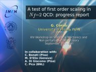 A test of first order scaling in Nf =2 QCD: progress report - Infn