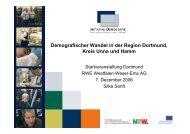 Demografischer Wandel in der Region Dortmund, Kreis Unna und ...