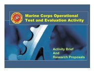 Marine Corps Operational Test and Evaluation Activity