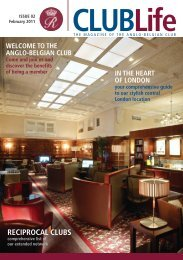 RECIPROCAL CLUBS - Anglo-Belgian Club