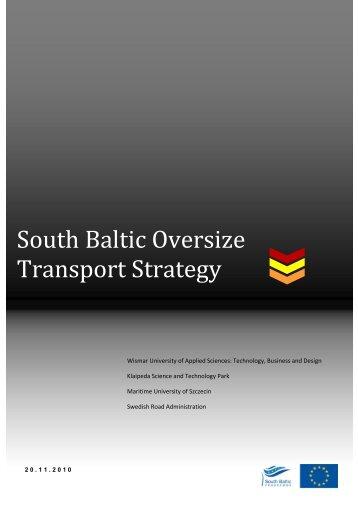 South Baltic Oversize Transport Strategy