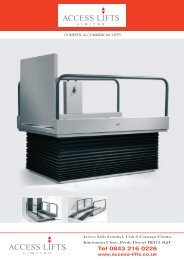 Download Step lift up to 875mm brochure - Access Lifts Limited