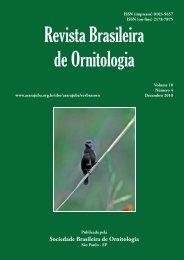 Capa 18(4) - fechada.indd - Sociedade Brasileira de Ornitologia